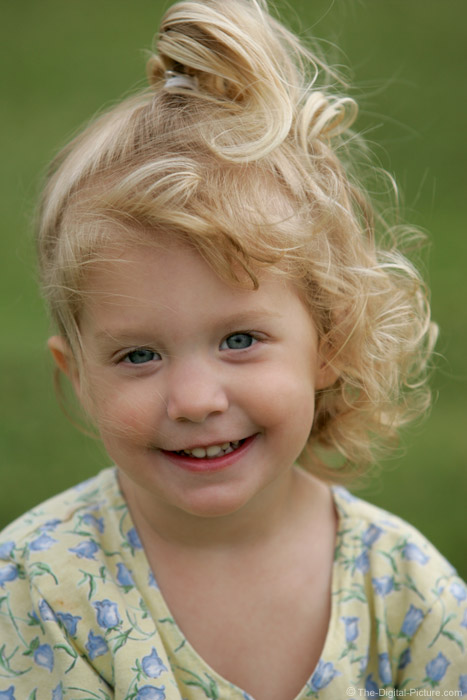 Little Blonde Girl Portrait