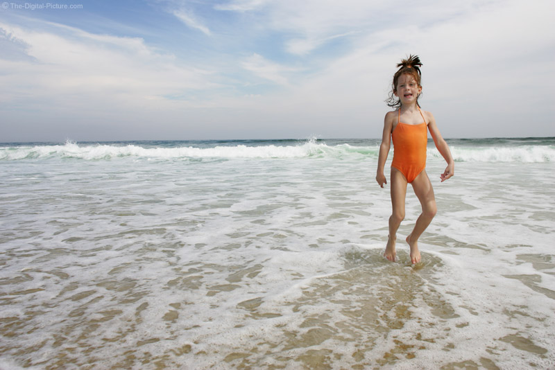 Young Girl in the Surf Picture