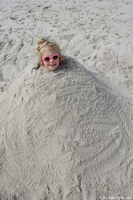 Buried to the Neck in the Sand Picture