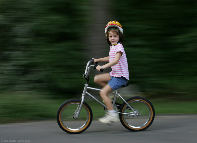 Kid Riding Bicycle Picture