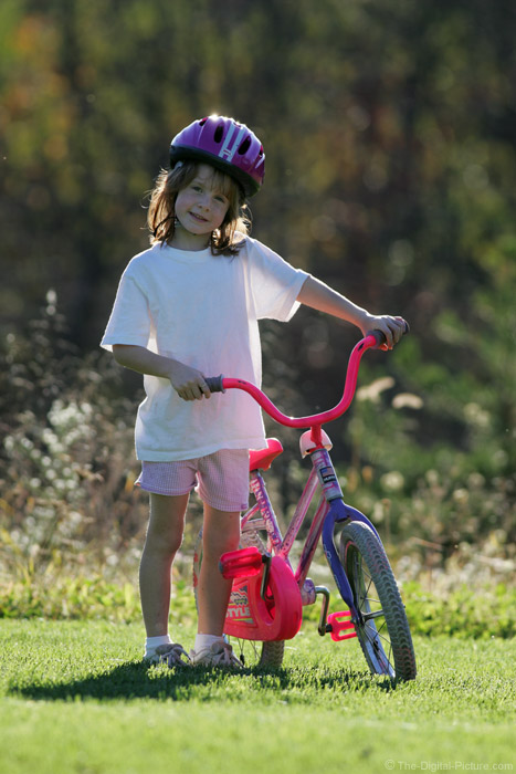 Girl and Her Bike Picture