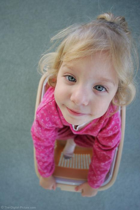 Little Girl in Little landry Basket