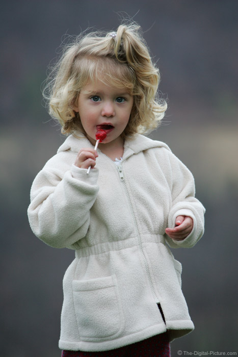 Enjoying a Lollipop Picture
