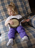 Little Girl Strumming Picture