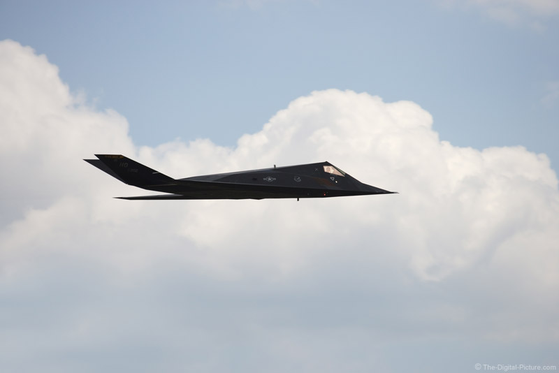 F-117A Stealth Fighter in the Clouds Picture