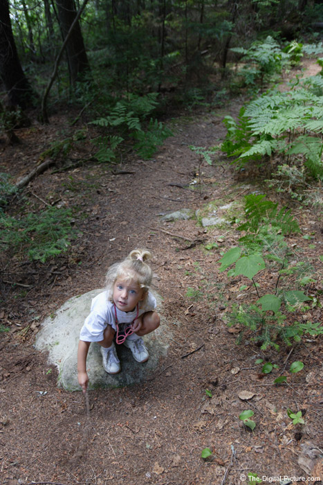 Girl Playing on Trail Picture