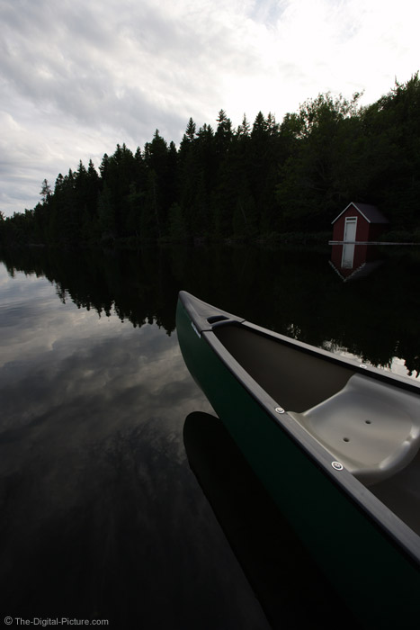 Canoe on Island Pond Picture