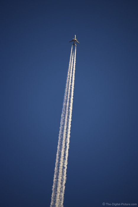 Jet Plane and Contrails Picture