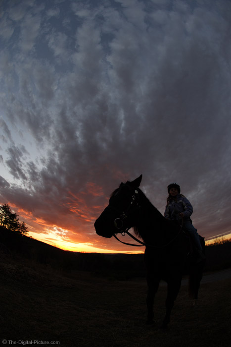 Riding at Sunset Picture