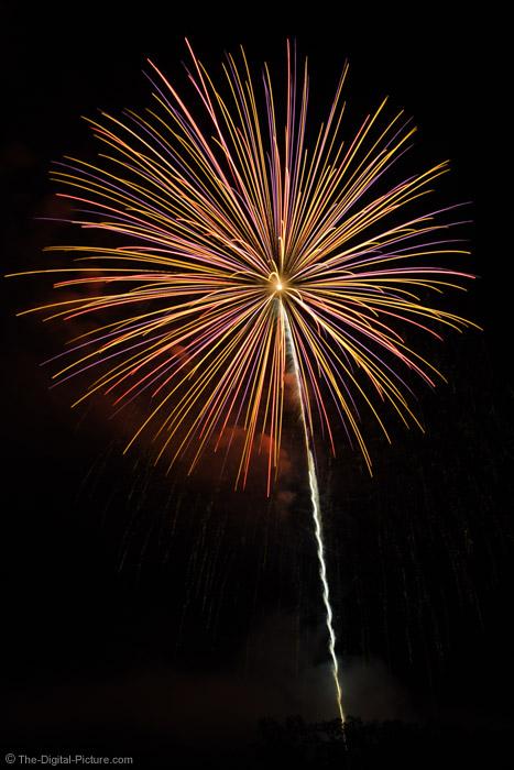 Multi-Color Fireworks Burst