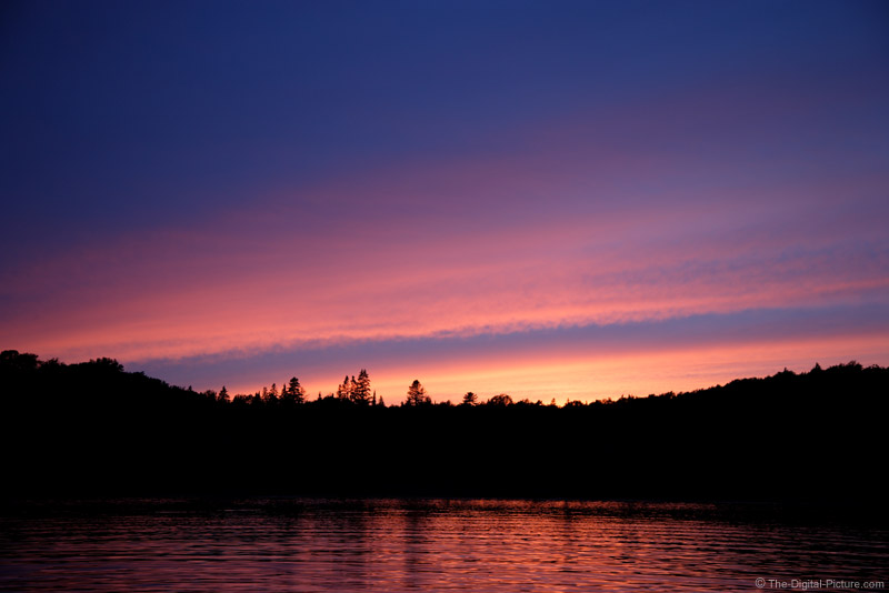Lake Ahmic Sunset Picture