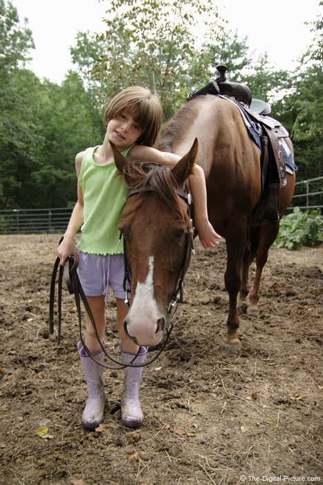 A Girl and Her Love, a Horse