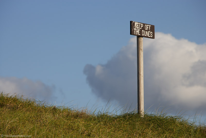 Keep Off The Dunes Sign - 300mm