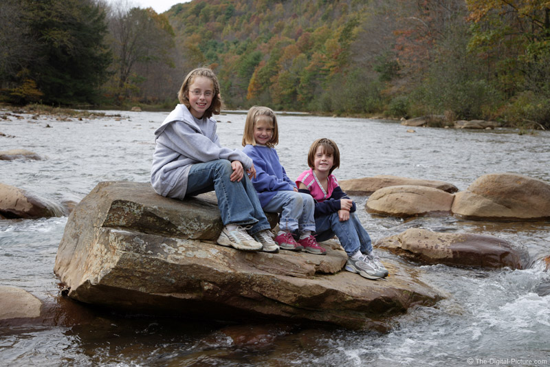 Kids on a Rock Picture