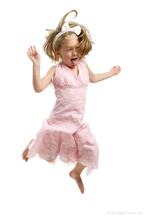 Girl Jumping Wildly Picture