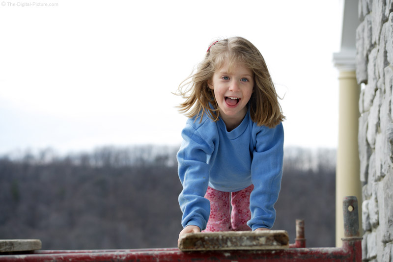 Playing on Scaffolding Picture