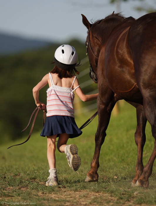 Running With Horse Picture