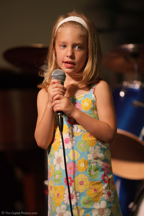 Little Girl at the Mic Picture