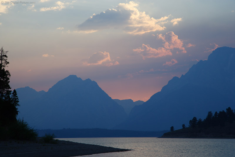 Jackson Lake, Wyoming Sunset