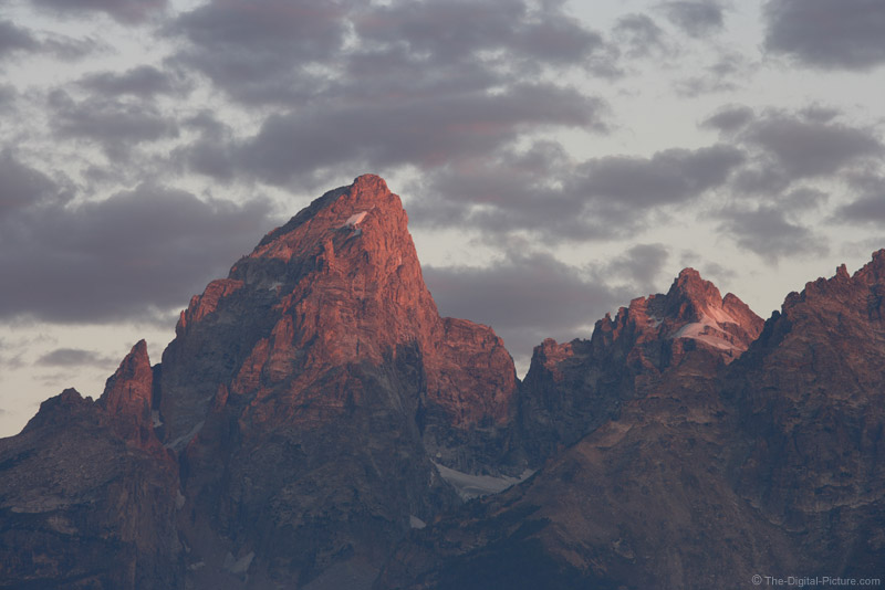 Alpine Glow on Grand Teton Mountain Peak