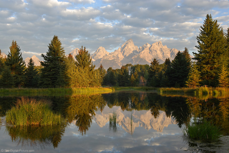 Daybreak at Schwabacher Landing, Grand Teton National Park