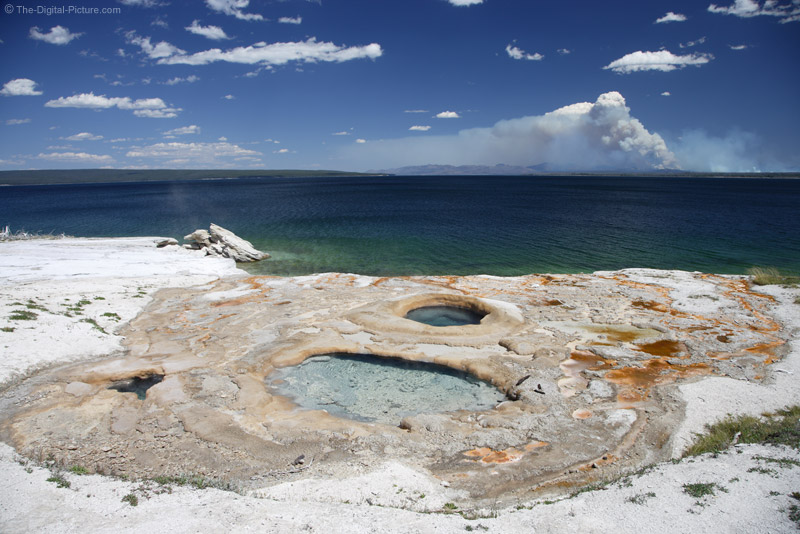 Thermal Features, Yellowstone Lake and a Forest Fire