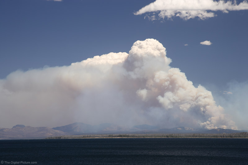 Forest Fire by Yellowstone Lake