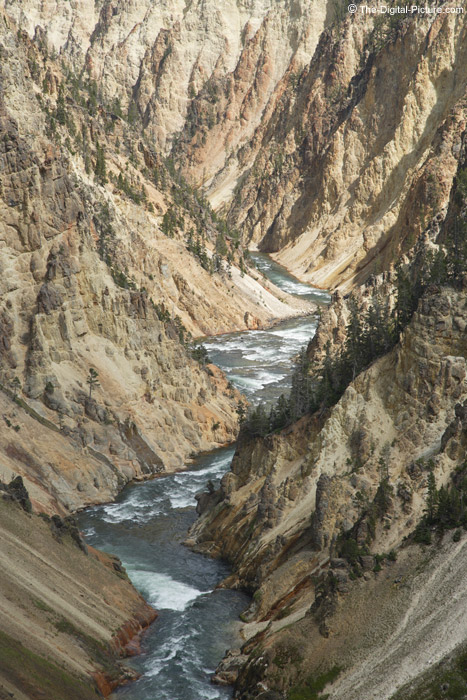 Deep into Yellowstone Canyon