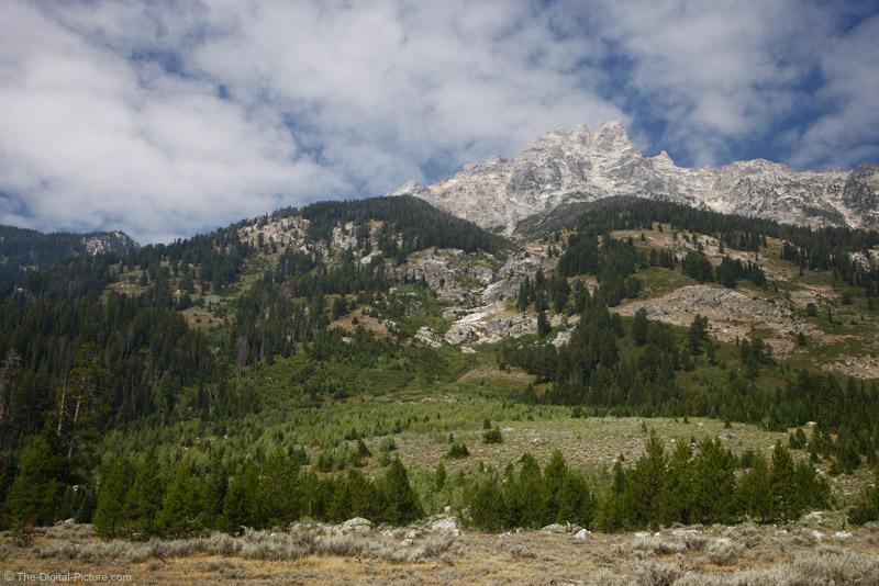 Base of Grand Teton Mountain Range