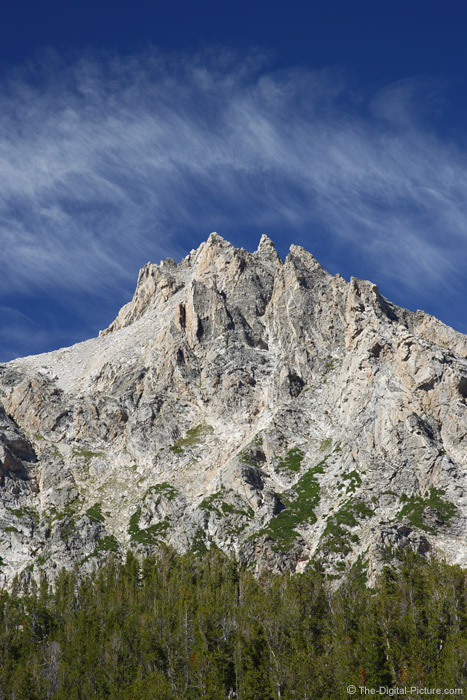 Grand Teton Peak and Whispy Clouds