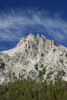 Grand Teton Peak and Whispy Clouds