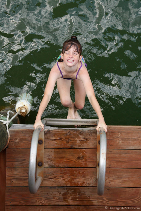 Swimming on the Dock