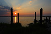 Old Pilings at Sunset, Chincoteague, Va
