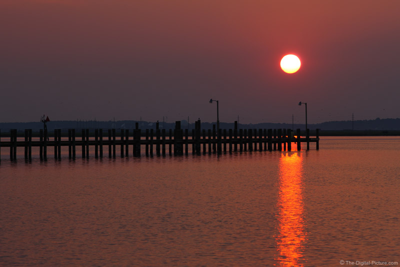 Sunset Over the Bay Pier