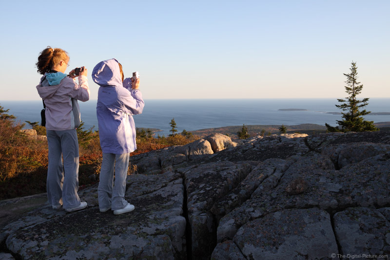 Young Photographers on Cadillac Mountain