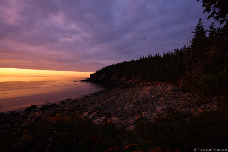 Dawn at Otter Cliff, Acadia National Park, Maine