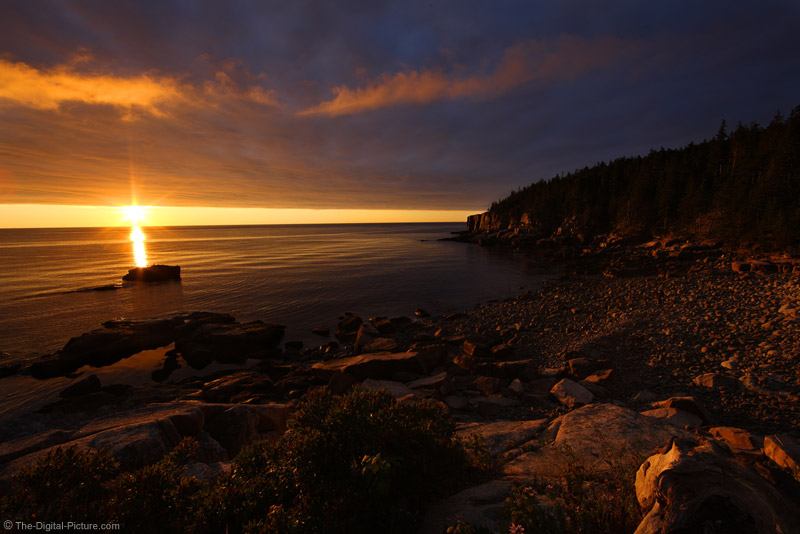 Sunrise at Otter Cliff, Acadia National Park, Maine