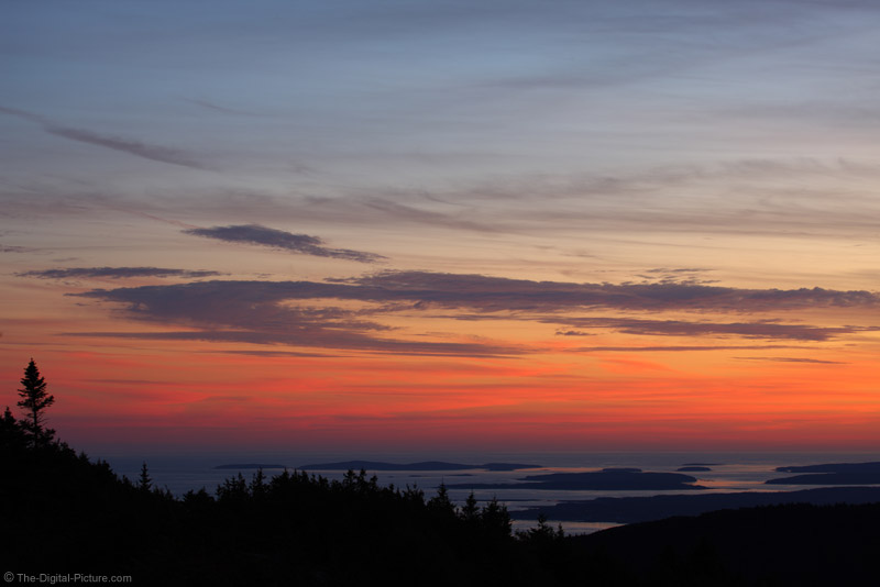 Sunset from Cadillac Mountain, Acadia National Park, Maine