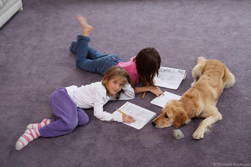 Three Girls Doing Homework
