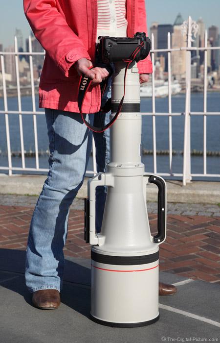 Canon EF 1200mm f/5.6 L USM Lens Posing Vertically