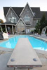 Diving Board, Pool and House