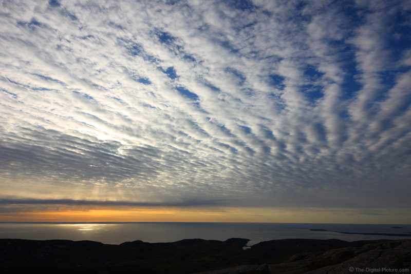 Rows of Clouds Over Acadia