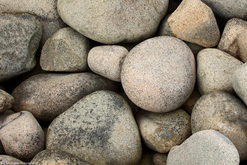 Surf-Smoothed Granite Rocks