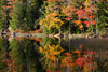 Fall Foliage Reflecting on Eagle Lake