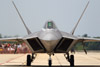 Hot F-22 Raptor Fighter Plane on the Runway