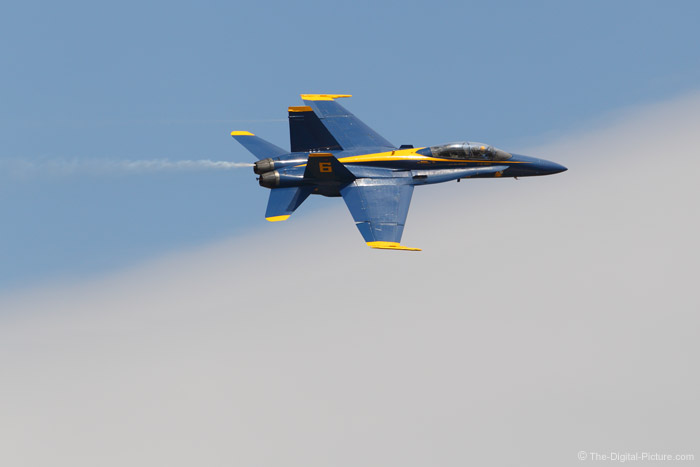 Blue Angel F-18 Hornet in the Clouds