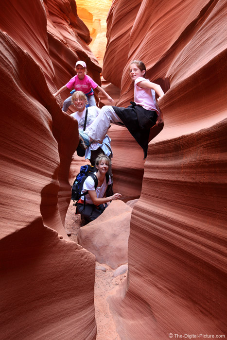The Girls in the Slot Canyon