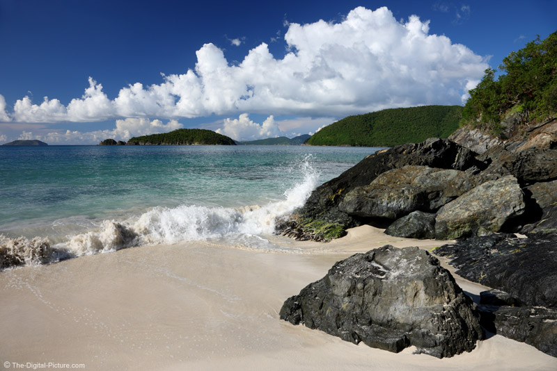 Wave Crashing in Cinnamon Bay, St. John