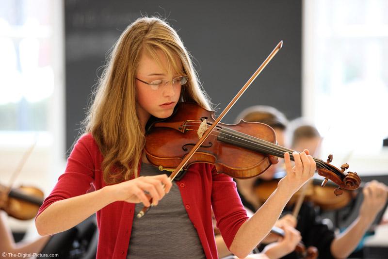 Rim-lit Violinist