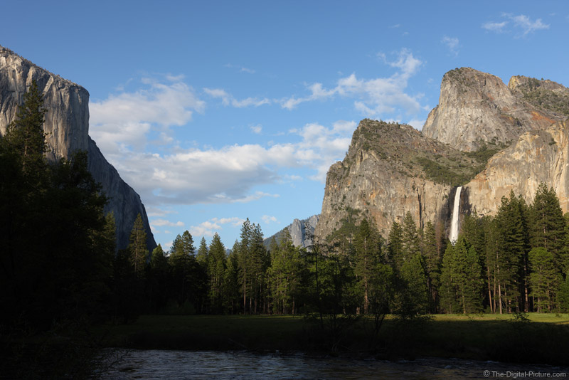 El Capitan and Bridalveil Falls from Valley View